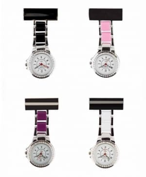 Photo of 2 Tone Diamante Metal Nurses Fob Watches