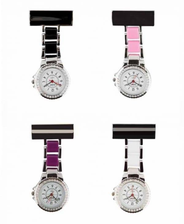 Photo of 2 Tone Diamante Metal Nurses Fob Watches