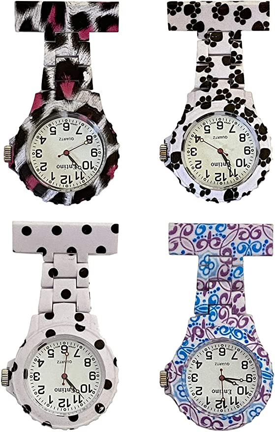 Large Dial Patterned Nurses Fob Watches