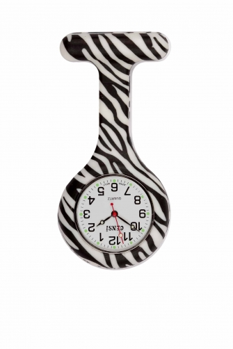 Photo of a Zebra patterned Fun Nurses Fob Watch