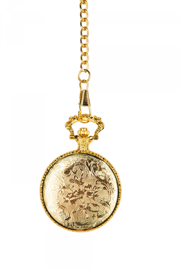 Photo of back of Gold coloured Golf Pocket Watch