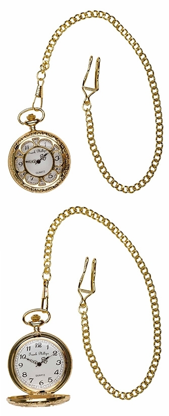 A photo of a Gold Antique Design Pocket Watch