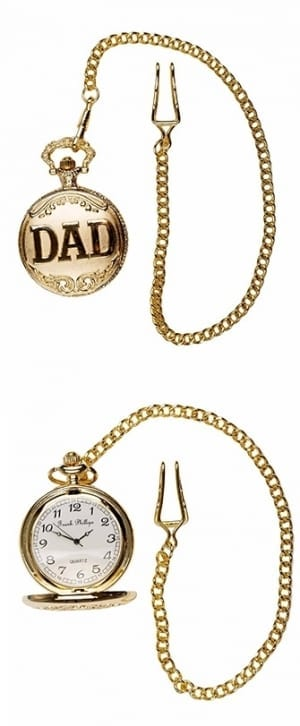 Photo of a Gold DAD pocket watch