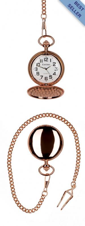 Plain Polished Rose Gold Pocket Watch