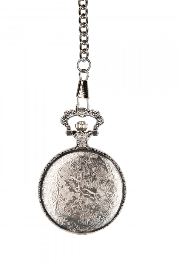 Photo of back of Silver coloured Golf Pocket Watch