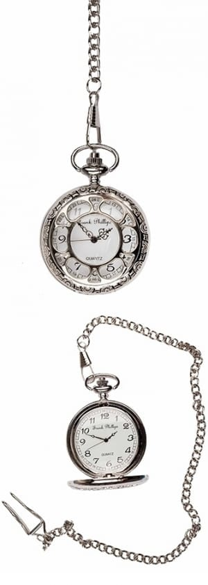 Photo of a Silver Antique Design Pocket Watch