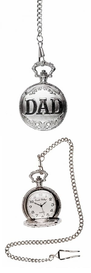 A photo of a silver DAD Pocket Watch