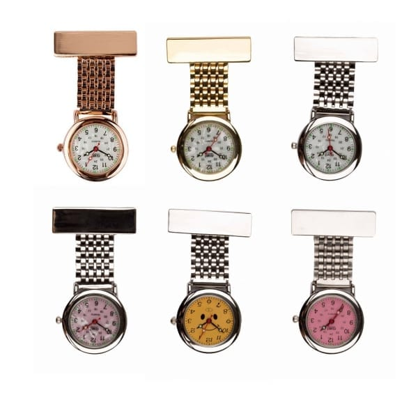 Photo of Traditional Metal Finish Nurses Fob Watches