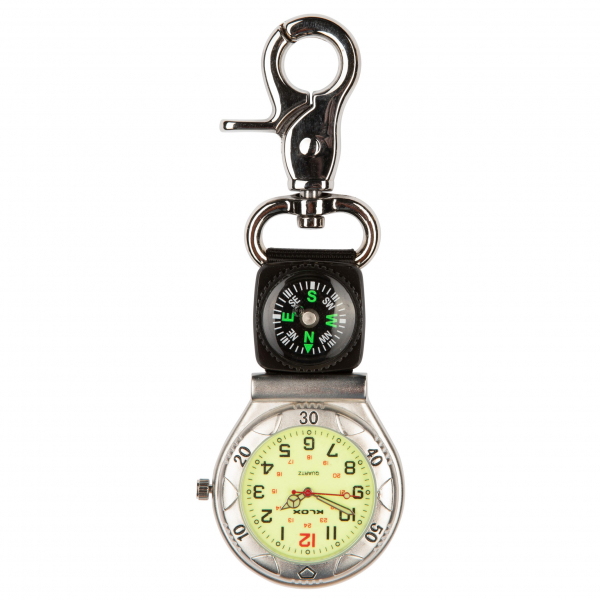 Photo of a designer belt / sports fob watch with webbed strap with compass