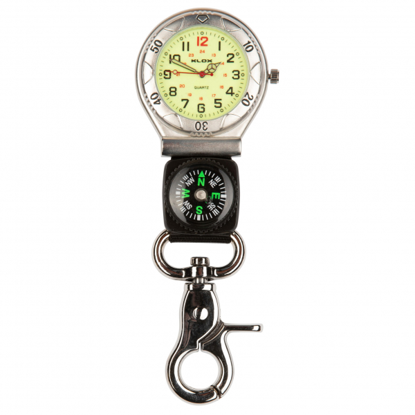 Photo of a designer belt / sports fob watch with webbed strap and compass